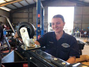 Rhianna Poulton light vehicle apprenticeship